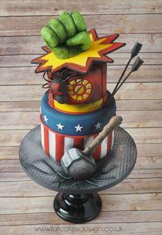 Super héroe cake.