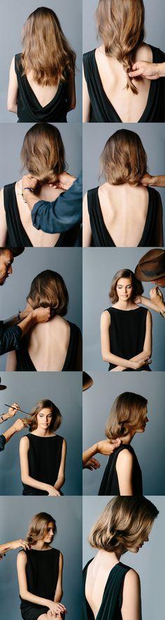 DIY Faux Bob Wedding Hairstyle for Long Hair - #diyhair #diyweddings #weddingbeauty