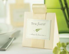 Always & Forever Tea Favors from TeaForte, 2 infusers per pack with customizable labels for the back.  Cute idea!  $20 per box of 4.