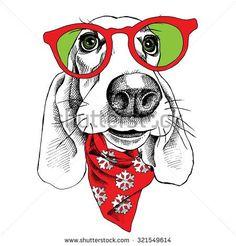 Картинки по запросу basset hound illustration