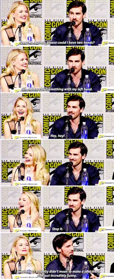 Jennifer and Colin #OUAT #SDCC2015 #11 july 2015