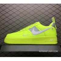 WomenMen Nike Air Force One Utility Volt White Black Wolf