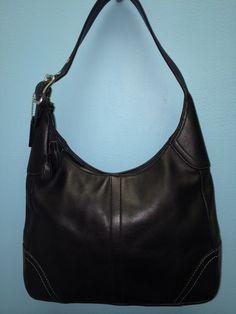 Coach Hamilton Hampton Black Leather Handbag F10280 #Coach #Handbag