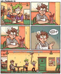 Read 95 from the story Kid n Teenagers Comics by Ms_foofy (Ms. Cute Comics, Funny Comics, Z Toon, 4 Panel Life, Funny Comic Strips, Kid N Teenagers, Me Anime, Short Comics, Fanart
