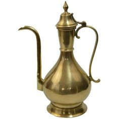 Bohemian Turkish Brass Kettle (500 RON) ❤ liked on Polyvore featuring home, kitchen & dining and tabletop