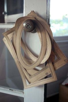 Cardboard frames. I really like this idea. Great way to display the kids art!