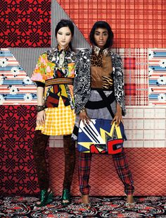 OMG Prints & Patterns going wild! Emily Shur photogrphy for Papermag