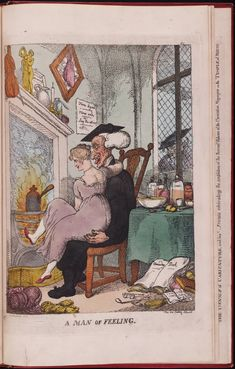 f21-A Man of Feeling From The Caricature Magaize, or Hudibrastic Mirror by G. M. Woodwoard, vol. 2, Folio 75 Lewis Walpole Library Digital Collection