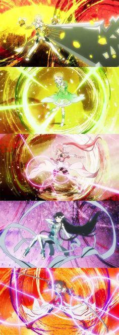 I love all of their powers yuki yuna is a hero Manga Anime, Anime Art, Spice And Wolf, Boboiboy Galaxy, Warrior Girl, Glitter Force, I Love Anime, Anime Comics, Sword Art Online