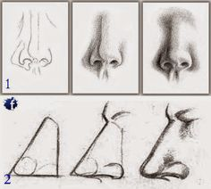 How to draw noses step by step (Two lessons) - Learn To Draw And Paint