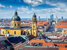 Buy Aerial view of Munich by on PhotoDune. Aerial view of Munich over Theatine Church of St. Kajetan) and Odeonplatz, Munich, Bavar. Best Places To Live, Cool Places To Visit, Places To Travel, Bergen, Best Cities In Europe, Destinations, Work Abroad, Most Beautiful Cities, Cool Countries