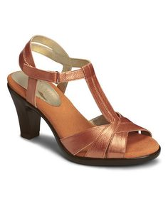 Look what I found on #zulily! Orange Metallic Aquarian Leather Sandal #zulilyfinds