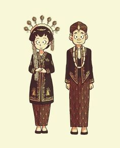 Ideas For Wedding Couple Illustration Design Thanks Card Wedding, Wedding Cards, Wedding Themes, Wedding Designs, Wedding Colors, Wedding Illustration, Couple Illustration, Javanese Wedding, Best Wedding Hairstyles