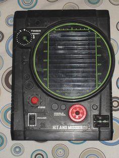 VINTAGE 1979 TOMY HIT AND MISSLE ELECTRONIC HANDHELD GAME JAPAN TESTED WORKS #TOMY