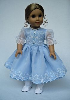 RESERVED++Blue+Taffeta+and+White+Organza+by+MyAngieGirl+on+Etsy