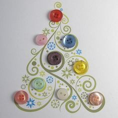 Button Christmas tree card.  love this card!!!