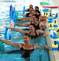 water aerobics, not just for old people! honestly, one of the hardest classes I've done!