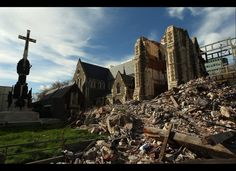 The damaged Christchurch Cathedral in Cathedral Square on Sept. 28, 2011 in Christchurch, New Zealand. On Feb. 22 this year a 6.3 magnitude earthquake struck the city of Christchurch. The quake took hundreds of lives, and seven months on, the community continues to rebuild. (Cameron Spencer, Getty Images)