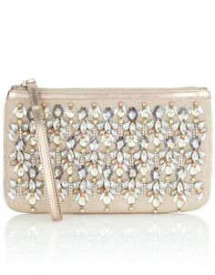 Heavy Jewel Zip Top Bag   Silver   Accessorize Accessorize Bags, Beaded  Purses, Cute 487b4060d6