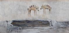 I met my true love by the vast ocean by Alice Leach, Painting, Oil on Paper