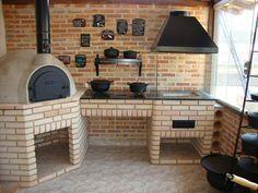 Churrasqueira, forno de pizza, fogão a lenha escondido, projeto bem arrojado