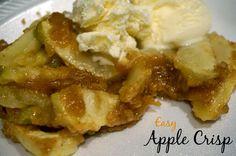 easy apple crisp  #falldesserts #applecrisp #apinchofchaos
