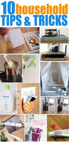 10 Household Tips & Tricks! Awesome ideas here that I never thought of. LOVE the velcro one.