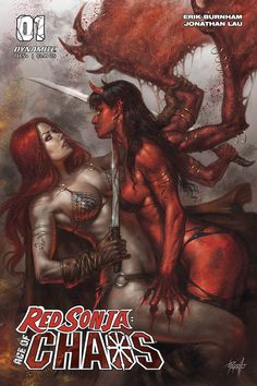 Dynamite Comics' Red Sonja: Age of Chaos pits the warrior heroine against some of the top characters from the Chaos! Red Sonja, Larp, Rogue Gambit, A Clash Of Kings, Read Red, Wolf, Comic Art Community, Horror Comics, Comics Online