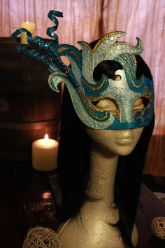 Winter Fairy Masquerade Mask with Glitter Clip by MmmPieProd Etsy Coupon Code: HALLOWEEN gets you 20%0ff!