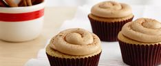 Cinnamon Apple Cupcakes. Use Cinnamon Roll Frosting Creations for an apple pie taste, without the crust.