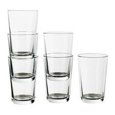 IKEA - IKEA 365+, Glass, 10 oz, , Also suitable for hot drinks.Made of tempered glass, which makes the glass durable and extra resistant to impact.Can be stacked inside one another to save space in your cabinets when not in use.