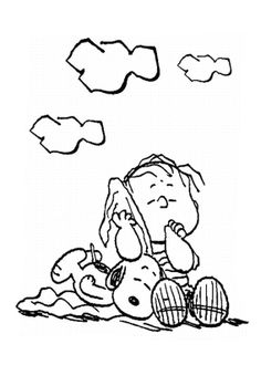 snoopy sleep coloring page