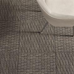 Coming Along-Grey carpet tile by FLOR Carpet tile squares - great for basement.