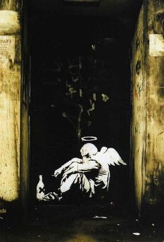 Fallen Angel by Banksy is one of my all-time favorites...  ~~  Houston Foodlovers Book Club