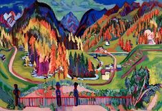 Ernst Ludwig Kirchner - Sertigtal im Herbst, c.1928