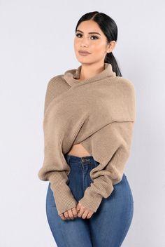Cross Up Sweater - Mocha | Fashion Nova
