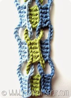 Free Crochet Pattern: Wave Stitch.  Use Google translate. http://www.4blog.info/school/2013/scuola-di-uncinetto-tutorial-del-punto-onda-wave-stitch/