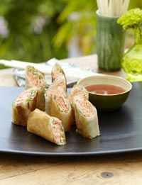 Annabel Langbein - Salmon and ginger spring rolls in NZ Life and Leisure magazine.  To see more from Annabel please go to www.annabel-langbein.com