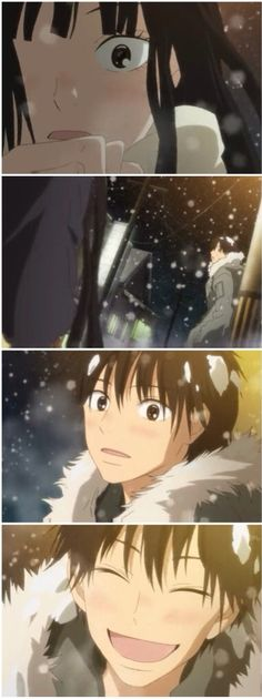 Sawako got to see kazehaya on christmas day