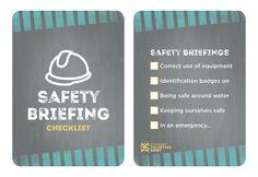 Safety Briefing Checklist