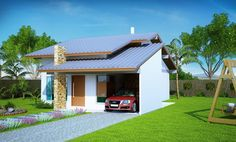 100a_right_8001 Small House Living, Small House Design, Modern House Design, Low Cost House Plans, Small House Plans, Filipino House, Flat Roof House, Double Storey House, House Blueprints