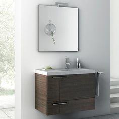 Nameek's ACF 32″ New Space Wall Mounted Bathroom Vanity Set in Wenge @besthomehq