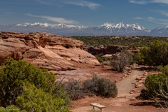 Rocky Mountains View from Canyonlands National Park (Utah, USA)