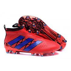 2016 Adidas Ace16+ Purecontrol FG-AG Botas De Futbol Rojo Azul e369b85b62dfc
