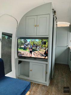 Airstream Travel Trailers, Airstream Living, Airstream Remodel, Camper Interior Design, Airstream Interior, Airstream Decor, Airstream Restoration, Narrowboat Interiors, Caravan Renovation