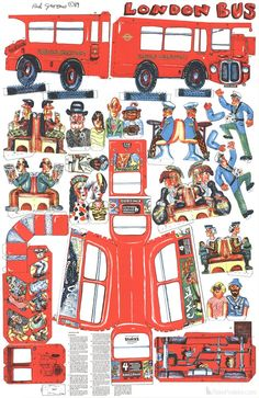 Red Grooms- London Bus