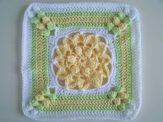 Lovely granny square motif available for purchase.