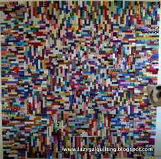 "Scrap quilt technique that the author calls ""legos"" -- interesting way to use up scraps, but you'll have to accept that things will most definitely not be straight & lined up like they would be if working with real legos. :)"