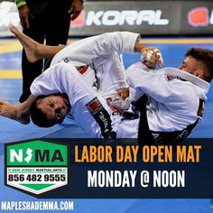 Our schedule is the same all weekend. Saturday Muay Thai and BJJ classes are on. Sunday Open mat as usual. Only change is Monday no evening classes instead we have Noon open mat. #njma #teamnjma #laborday #bjj #mma #muaythai #southjersey #mapleshade #cherryhill #moorestown