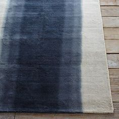 Ombre Dye Wool Rug - Midnight #westelm for bottom of straits or between patio door and laundry room
